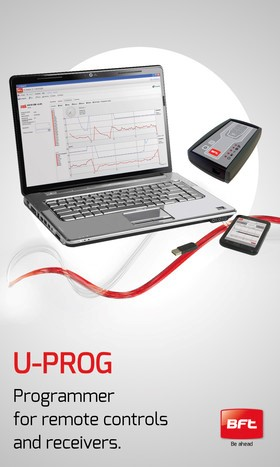 Bft interconnectivity: discover U-Prog, the programmer for remote controls and receivers.