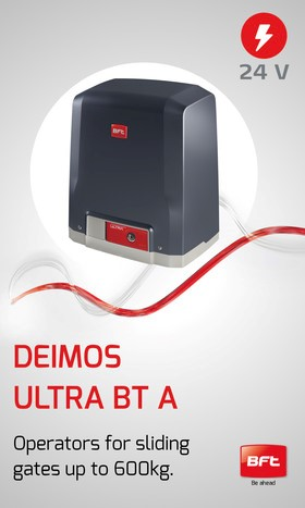 Deimos Ultra BT A: for sliding gates up to 600kg for residential use.